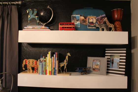 Floating shelves made by daddy!