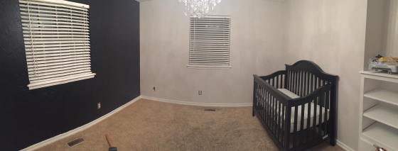 We painted all the walls and got his crib in!